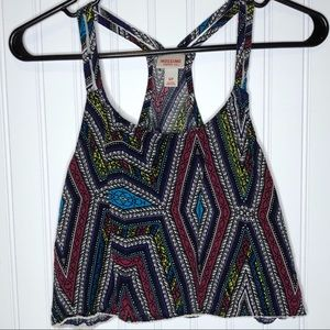 Mossimo Patterned Crop Tank, Small